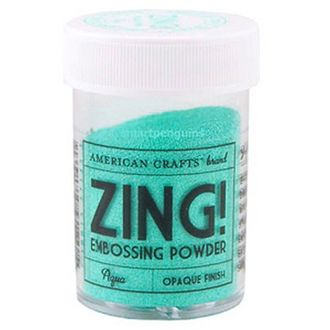 "Пудра для эмбоссинга матовая American Crafts ""ZING"" Светло-голубой (28,4г)"