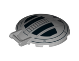 Dish 6 x 6 Inverted - No Studs with Handle with SW TIE Advanced Hatch Pattern, Light Bluish Gray (18675pb01 / 6097348)