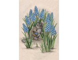 Mouse in flowers