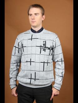 """Осенне-весенний мужской свитер Модель 602 """"Проталинки"""""""
