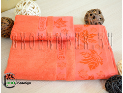 Бамбуковое полотенце спорт класс 48х98 Ярко-оранжевый Клен