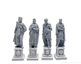 Four kings statues  .