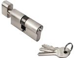 Ключевой цилиндр RUCETTI с поворотной ручкой (60 мм) R60CK SN Цвет Белый никель