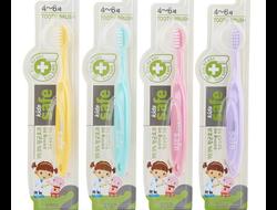 """Зубная щетка детская CJ Lion """"Kids Safe"""" с нано-серебряным покрытием №2 (от 4 до 6 лет), Пр-во: Корея"""