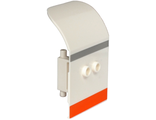 Door 2 x 4 x 6 Curved Aircraft with Light Bluish Gray and Orange Stripes Pattern, White (54097pb06 / 6306821)