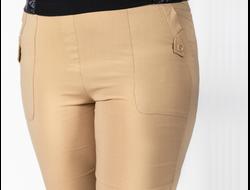 ШОРТЫ 1145. Летние бежевые шорты из стрейчевой ткани. Материал стейч коттон