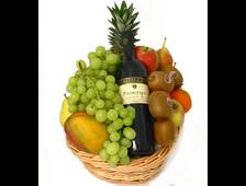 Корзина фруктовая с вином Божественный нектар
