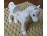 Horse with 2 x 2 Cutout, Blue Eyes Pattern, White (93083c01pb02 / 4599749 / 6016702 / 6091562 / 6091843)