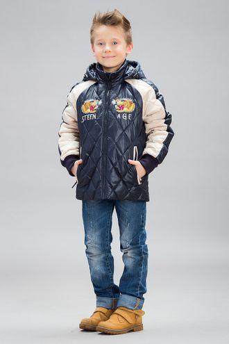 Куртка для мальчиков B16625 , STEEN AGE ( цвет черный/белый, красный/синий)