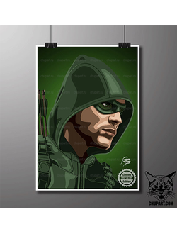 Стрела / Green Arrow - размер 21х30 (см)