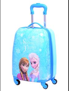 Детский чемодан на 4 колесах Холодное сердце Дисней - синий