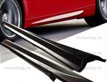 Комплект накладок порогов в стиле м3 для тюнинга BMW E90, комплект 2 порожка из abs пластика