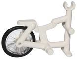 Tricycle Frame with Trans-Clear Wheel Bicycle with Fixed Black Hard Rubber Tire 1-Piece Wheel 50015 / 92851c01, White (50015c01)