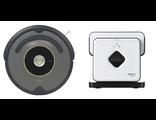 Робот-пылесос для сухой уборки iRobot Roomba 650 и робот-полотер для влажной уборки iRobot Braava 38