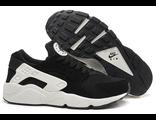 Кроссовки Nike Huarache черные с белым