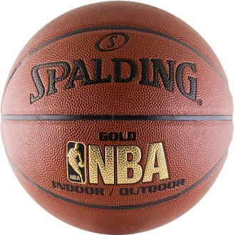 Мяч баскетбольный Spalding NBA Gold Series Indoor/Outdoor
