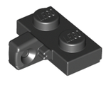 Hinge Plate 1 x 2 Locking with 1 Finger on Side without Bottom Groove, Black (44567b / 4185620)