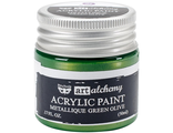 Acrylic Paint-Metallique Green Olive 1.7oz