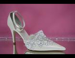 Свадебные айвори открытые туфли с закрытым носиком и пяткой острый мыс кожаные классика вышивка цены