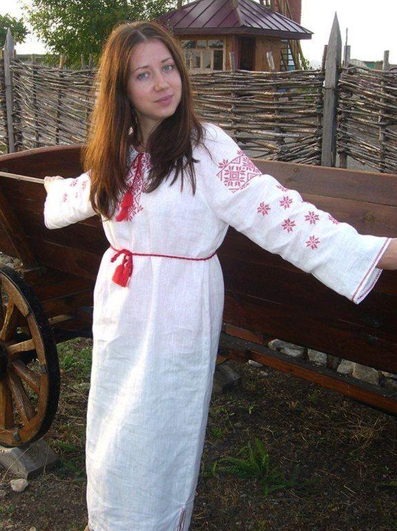 Рубашка с обережной вышивкой на Ивана Купала
