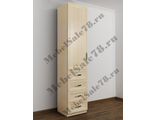 Узкий шкаф в комнату ШКР(I)№8