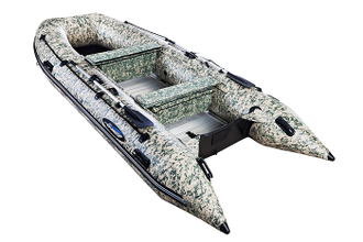 Лодка ПВХ GLADIATOR серия HEAVY DUTY HD 370 AL CAMO