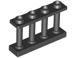 Fence Spindled 1 x 4 x 2 with 4 Studs, Black (15332 / 6066113)