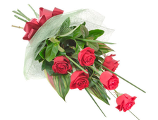 Каскадный букет из 5 роз