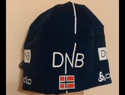 Шапочка  DNB с флагом Норвегии лайкра синяя