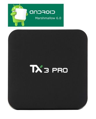 TX3 Pro. Android 6.0. Смарт ТВ приставка. 1 Гб / 8 Гб, Amlogic S905X, HDMI 2.0. Всё в одном для ТВ.