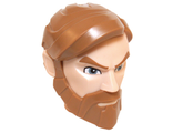 Large Figure Head Modified SW Obi-Wan Kenobi Pattern, Light Flesh (21325pb01 / 6124139)