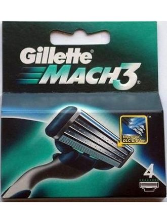 Лезвия GILLETTE MACH3 TURBO 4 ШТ