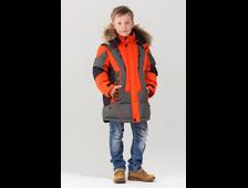 Bilemi куртка из биопуха для мальчиков 516621 оранжевый фронт