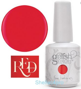 Gelish Harmony, цвет № 01078 Fire Cracker - Red Matters - Holiday Collection 2015