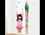 Многоразовая наклейка ростомер для детей на стену Disney Принцессы