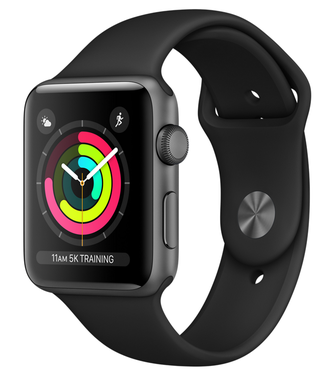 Apple Watch Series 3, 38mm Space Gray/Black
