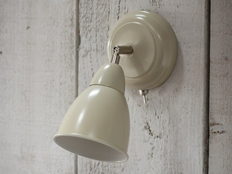 Chiswick Wall Light in Clay - Steel цвет Мел арт.LCL12