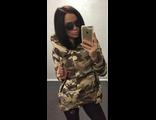 Женская весенняя куртка камуфляж 002-01