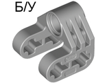! Б/У - Technic, Axle and Pin Connector Perpendicular Split, Light Bluish Gray (92907 / 4630114) - Б/У