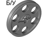 ! Б/У - Technic Wedge Belt Wheel ;Pulley;, Dark Bluish Gray (4185 / 4587275 / 6321744) - Б/У