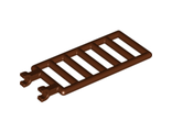 Bar 7 x 3 with Double Clips (Ladder), Reddish Brown (6020 / 4541278 / 6030812)