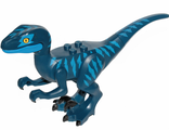 Dinosaur, Raptor / Velociraptor with Blue Markings and Blue Eye Patch, Dark Blue (Raptor11)