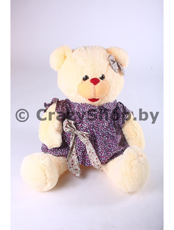 """Плюшевая медведица """"Джулия"""" кремового цвета 110 см."""