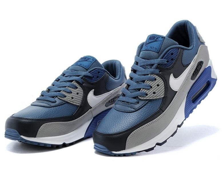 05bcb1ea Кроссовки Nike Air Max 90 мужские серо-синие