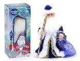"""Дед Мороз, муз., поет песенку """"В лесу родилась Ёлочка"""", синий, 40 см"""