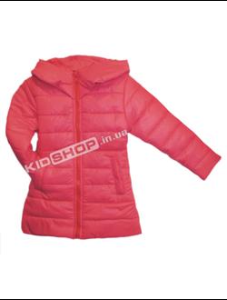 Куртка детская демисезонная 2-6 лет удлиненная цвет коралл