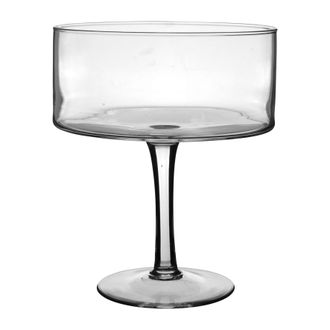 Блюдо на ножке, FOOTED BOWL MELIA D25XH30CM GLASS 32553
