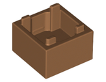 Container, Box 2 x 2 x 1 - Top Opening, Medium Nougat (35700 / 6312464)