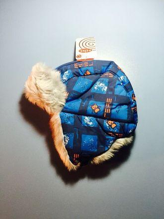 Теплая зимняя шапка-ушанка Reike цвет Blue