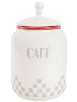 "Банка с крышкой ""CAFE"" 200195 POT A/COUV CAFE DAMIER GRS H16"